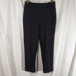 Chico's Design Pinstripe Black Pants EUC